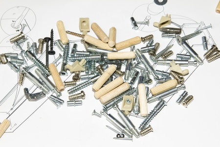 affix: Screw and other furniture equipment