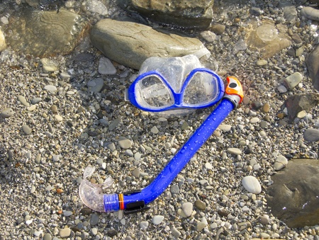 snorkeling set in the tide photo