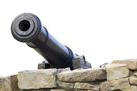 Antique cannon in castle