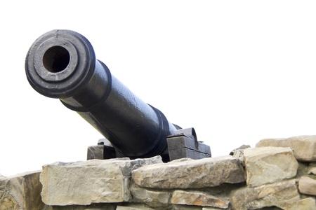 Antique cannon in castle