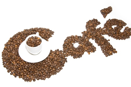 caffè di testo