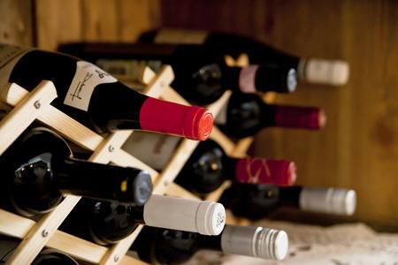 wine bottles Foto de archivo