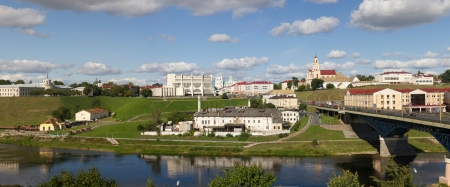 Panorama of historic center of Grodno (Belarus)