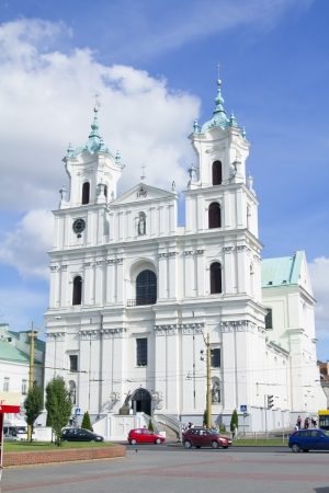 The Cathedral Of St  Francis Xavier in City Center in Grodno  Belarus  Stock Photo