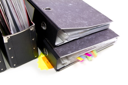 colored Files in the office folders