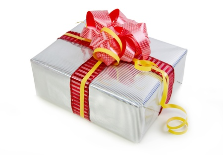 Christmas gifts box isolated on white Stock Photo - 17016862