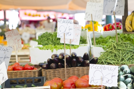 Organic and vegetables market in Italy