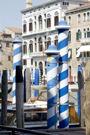 View from vaporetto to venetian building Stock Photo