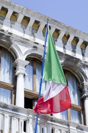 Flag of Italy on sky fon