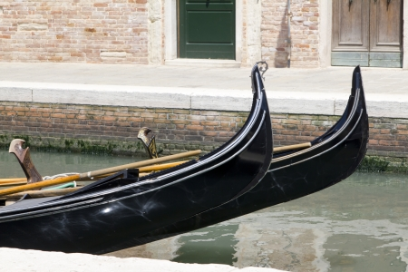 Gondola with people in Venice Stock Photo