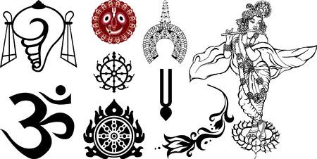 hinduismo: Signos y s�mbolos de Oriente y de la India