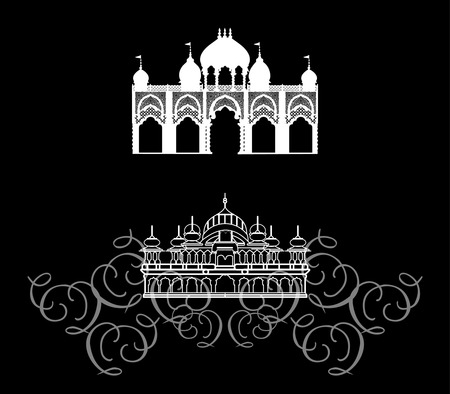 Temple - Architecture East, India Stock Vector - 8691078