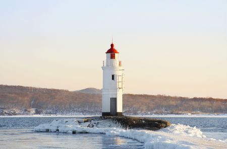 Egersheld Lighthouse Point, in Peter the Great bay (Vladivostok, Russia) photo
