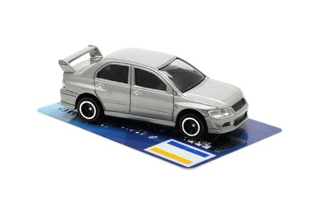 conception - buy new automobile by credit card