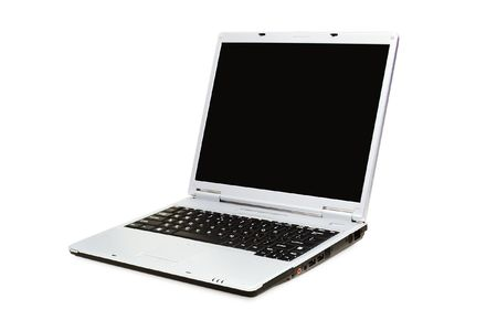 opened laptop on a white background with pretty shadow Stock Photo - 819900