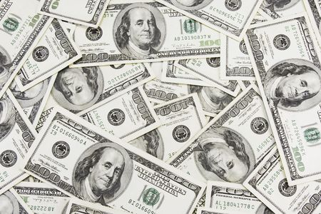 lots of real 100 greenbacks for background Stock Photo - 933607