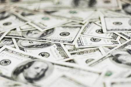 lots of real 100 greenbacks for background (shallow dof) Stock Photo - 933609