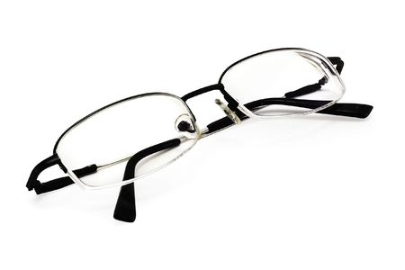 educations: eyeglasses on a white background with smooth shadow and clipping path for designers