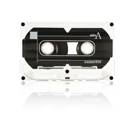 old audio tape cassette - side a Stock Photo