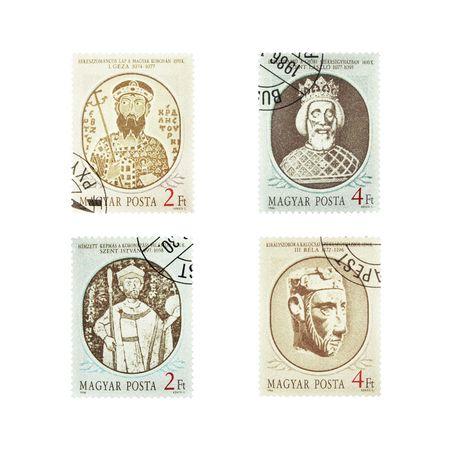 magyar posta: vintage stamps collection from Magyar Posta 1986