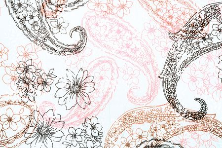 element for design - floral background textile stylization Stock Photo
