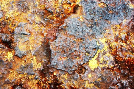 rusty metal background with layers of old paint Stock Photo - 1335765
