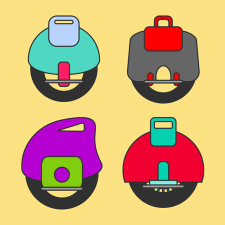 resourceful: Self Balancing Electric Unicycle vector icon on light background Stock Photo