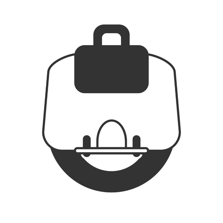 cooperating: Electric Unicycle vector icon on light background