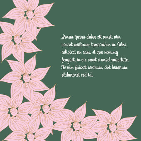 postcard background: Vector floral pattern background for spring postcard for mom and other woman in the Doodle style