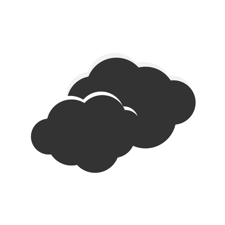 bad weather: Vector icon clouds and storms, and bad weather