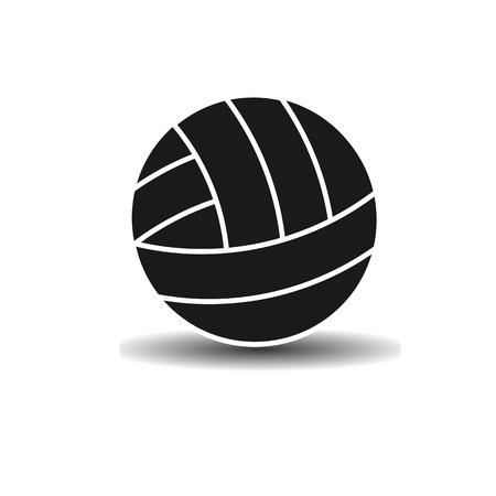voleibol: Vector icono bola del voleibol con la sombra sobre fondo claro