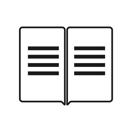 keeping: black business magazine flat vector icon on light background