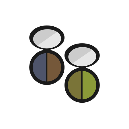 eye shadow: Color eye shadow for a flat icon on a white background Illustration