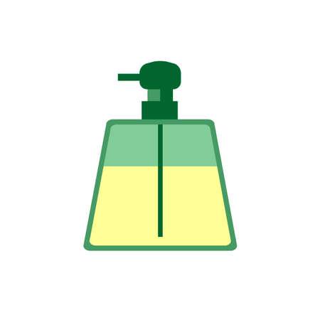 liquid soap: liquid soap spray flat icon on a white background