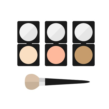 mineral: makeup mineral powder flat icon on a white background Illustration