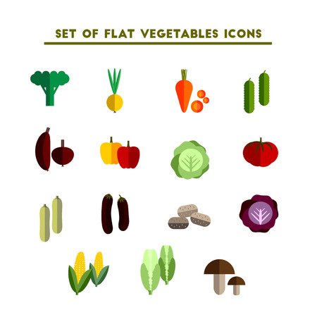 carrot: set of color vector flat icon vegetable on white background