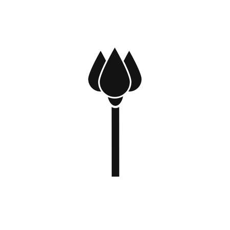 sceptre: Black sceptre flat vector icon on white background Illustration
