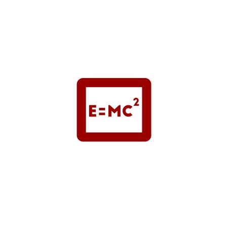 einstein: Color formula Einstein vector line icon on white background