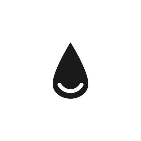 blood line: black drop of blood line vector icon set on white background
