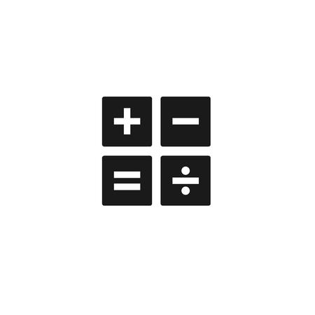 sign equals: Black calculator line vector icon set on white background Illustration