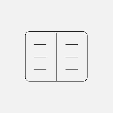 registry: Notepad for recording, medical card registry, with a thin black icon set on a colored background Illustration