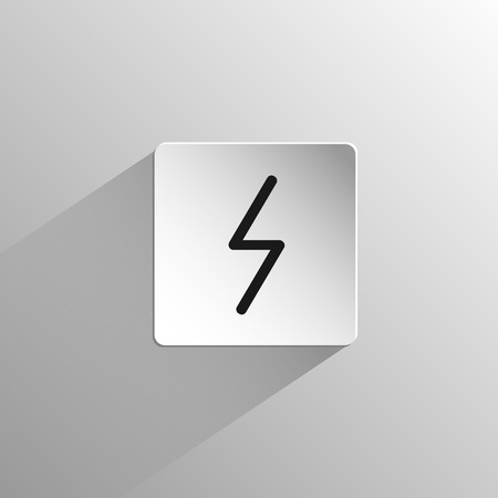 magic, black icon rune Eihwaz on a light background with long shadow