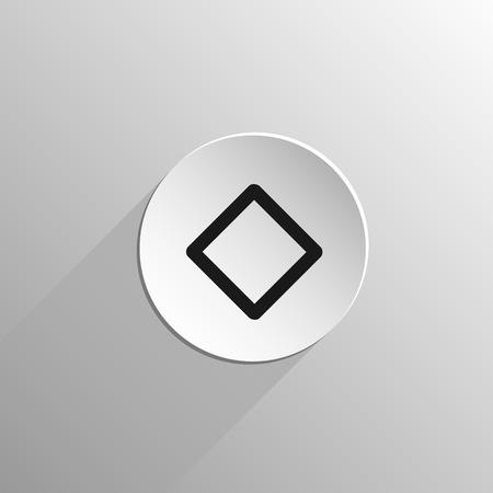 Magie, icône noire rune Inguz sur un fond clair avec une longue ombre Banque d'images - 49798283