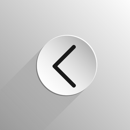 magic, black icon rune Kaunaz on a light background with long shadow Vettoriali