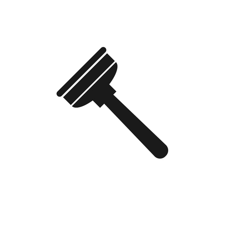 plunger: plumbing plunger black flat icon on a white background