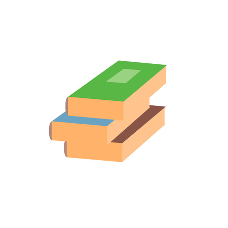 closed book: Stack closed book flat vector icon on white background Illustration