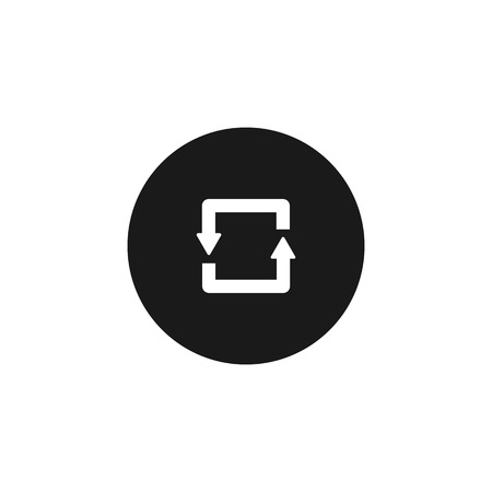 circulating: circulating arrows the flow of information white icon on black isolated background Illustration