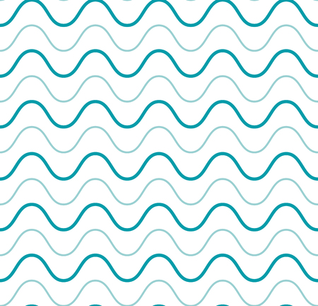 curved line: Fresh cute sea wave blue seamless pattern and a curved line for packaging paper Illustration