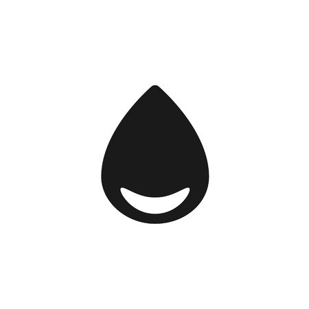 round corner: drop with round corner black web icon illustration for mobile app color picture on a white background Illustration