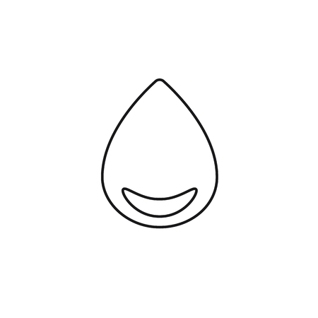 round corner: drop with round corner black web icon thin line illustration for mobile app color picture on a white background